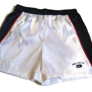 NIKE Soccer Shorts Men's Small White/Red/Blue